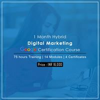Digital Marketing Google Certification Weekend Course