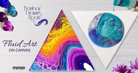 Fluid Art on Canvas Thane