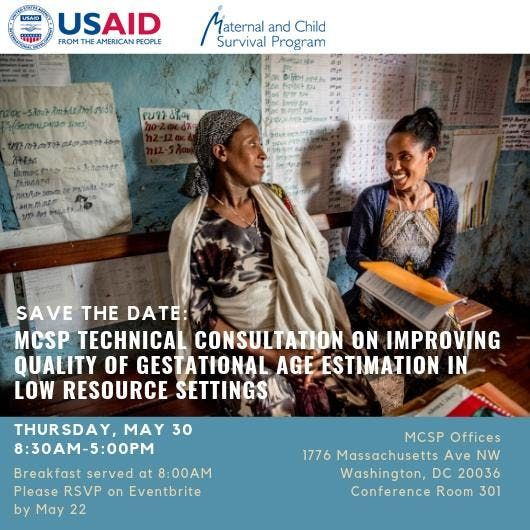 MCSP Technical Consultation on Improving Quality of Gestational Age Estimation in Low Resource Settings