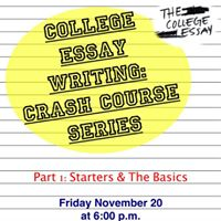 crash course essay writing The children are engaged and involved in telling the story (or essay, song, poem, or other kind of text) a crash course in writing together.