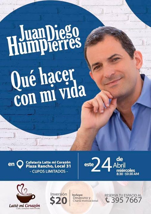 Charla Con Juan Diego Que Hacer Con Mi Vida At Cafeteria