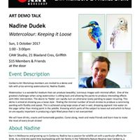 Nadine Dudek Artist Talk &amp Demo