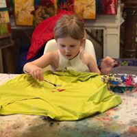 Kids Beginning Fabric Painting