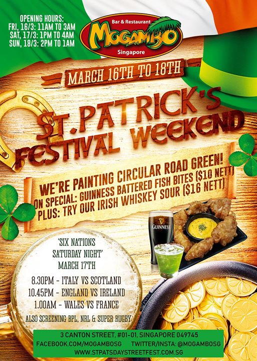 St Paddys Weekend at Mogs