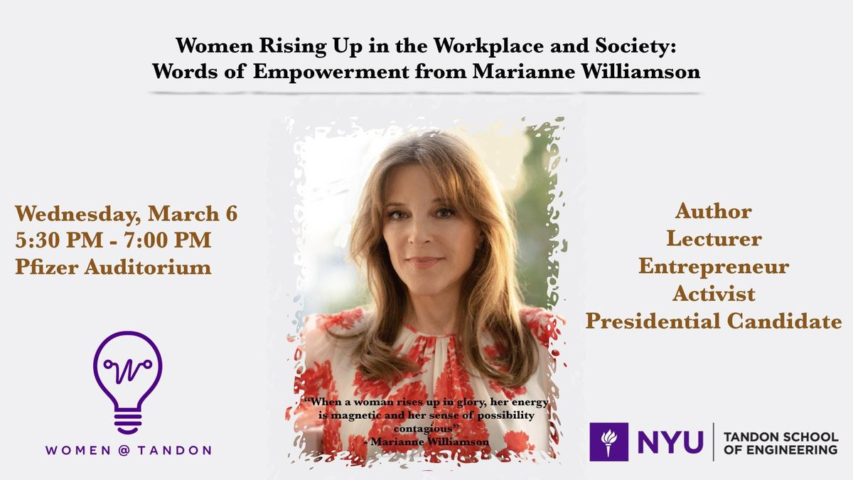 Women Rising Up Words of Empowerment from Marianne Williamson