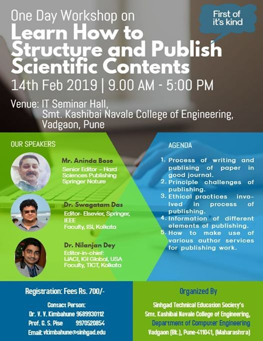 workshop onLearn How to Structure & Publish Scientific Content
