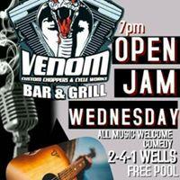 Open JamMic At Venoms