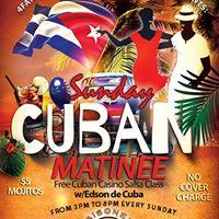 Sunday Cuban Matinee - No Cover Edson de Cuba