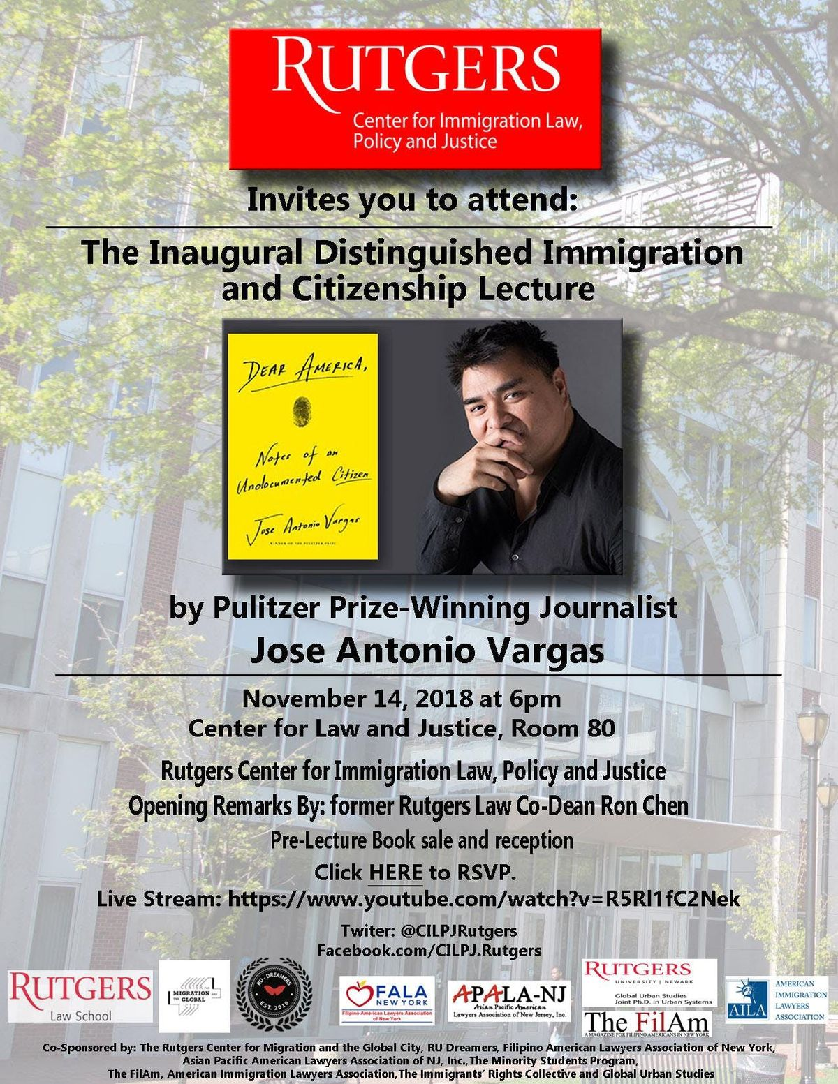 Distinguished Immigration and Citizenship Lecture by Jose Antonio Vargas