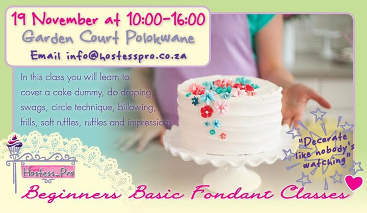 Beginners/Basics Cake Decorating at Garden Court Polokwane ...
