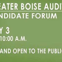 Great Boise Auditorium District (GBAD) Candidate Forum