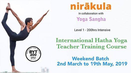 International Hatha Yoga Teacher Training Course [Weekend]