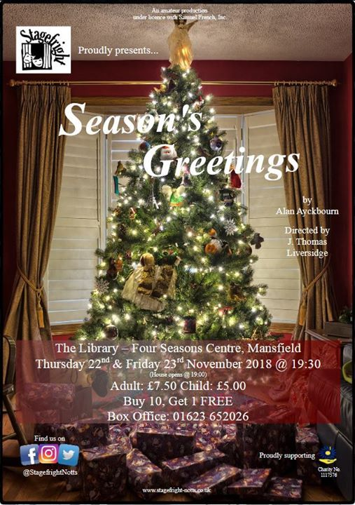 Seasons greetings at library mansfield mansfield seasons greetings a play by sir alan ayckbourn m4hsunfo