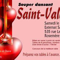 Souper dansant de la Saint-Valentin