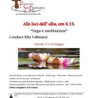 Alle luci dell alba corso di meditazione e yoga