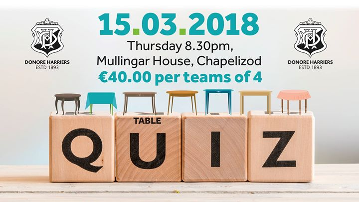 Donore Harriers Table Quiz
