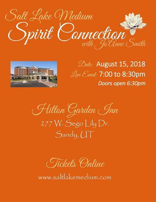 Live Spirit Connection Event With Salt Lake Medium Jou0027Anne Smith