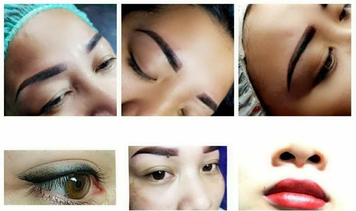 Eyebrow Embroidery Ombre Brows Permanent Lips Eyeliner In