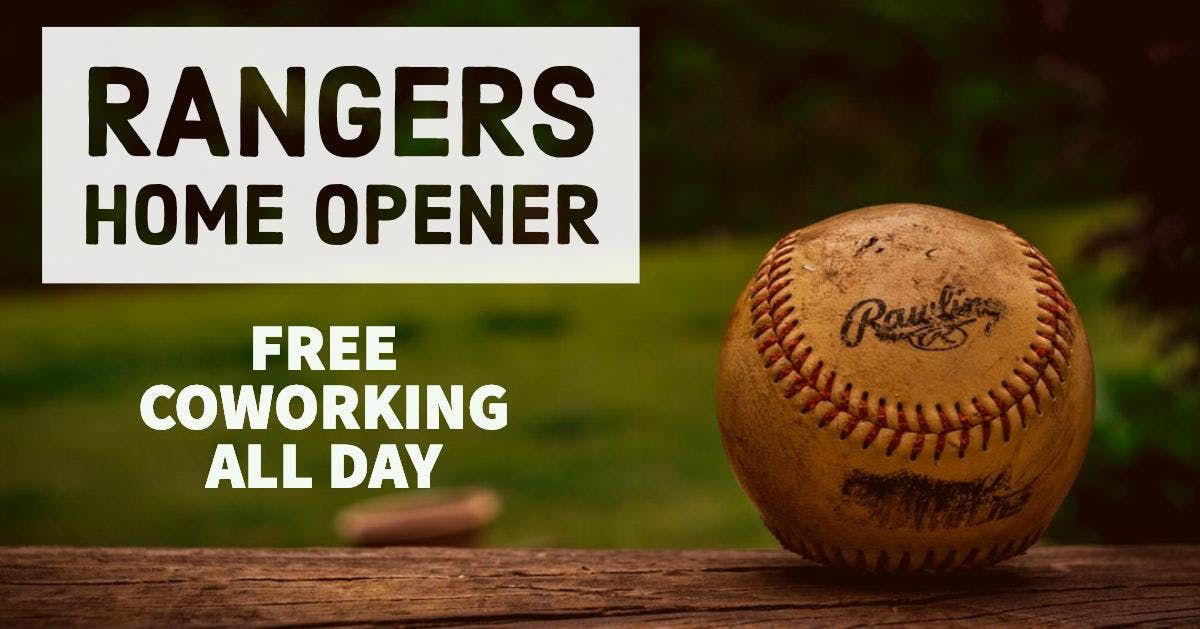 Free Coworking-Rangers Home Opener