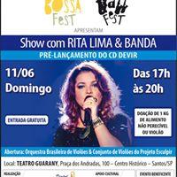 Show com Rita Lima &amp Banda - Teatro Guarany - SantosSP