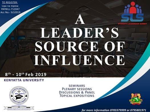 Students Leadership Summit #SLSFEB2019 at Kenyatta University, Nairobi