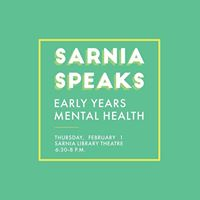 Sarnia Speaks Early Years Mental Health