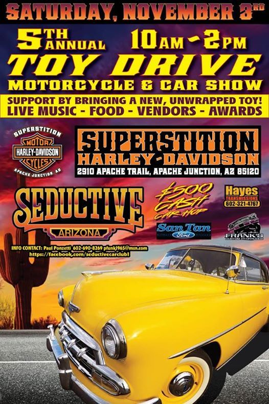 Th Annual Toy Drive KickOff Motorcycle Car Show At Superstition - Apache junction car show