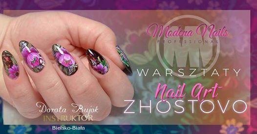Warsztaty nail art. Kwiaty technik zhostovo