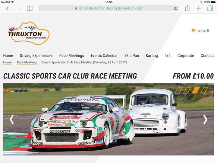 Classic Sports Car Club Thruxton Thriller weekend
