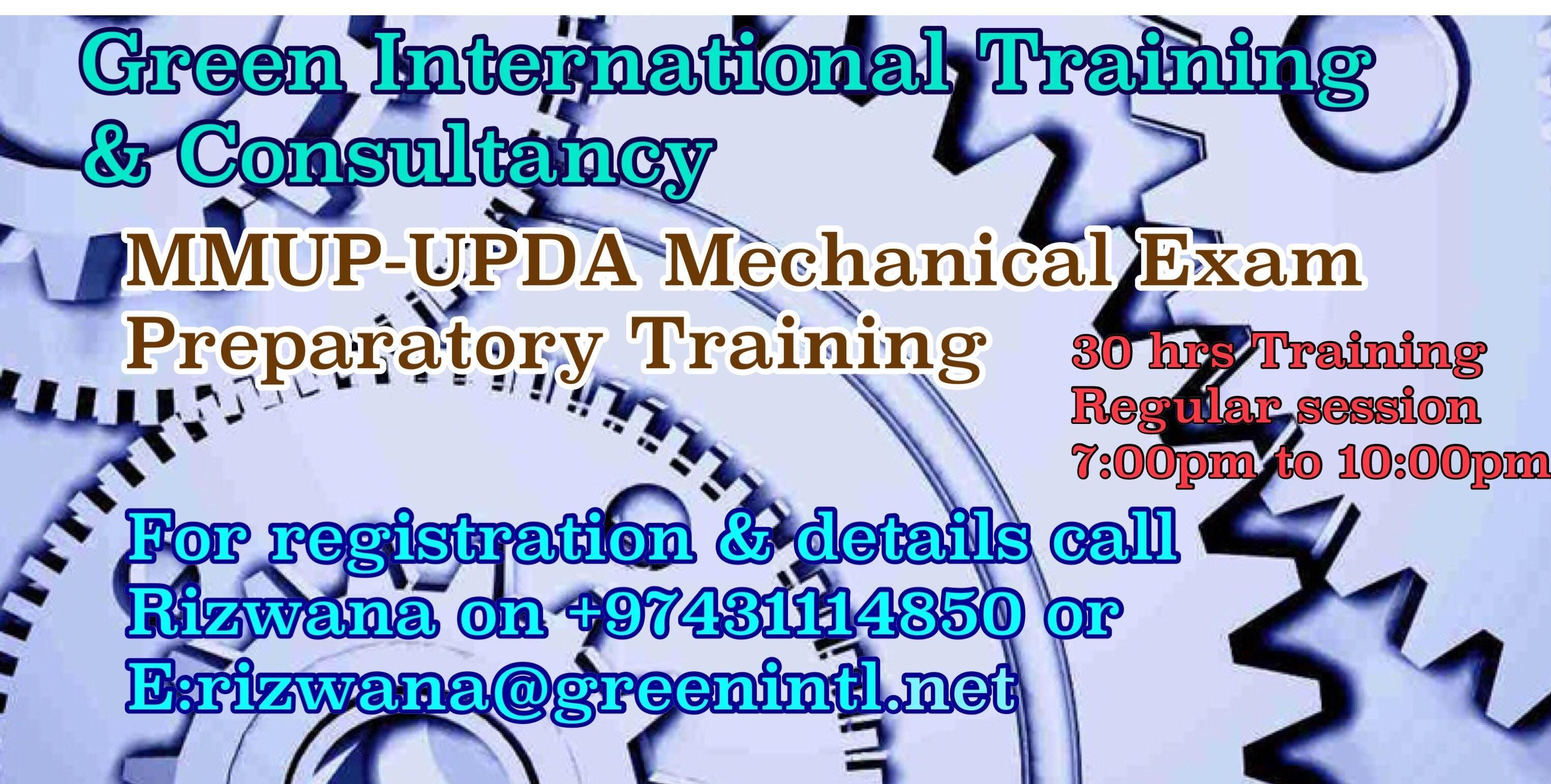 Mmup upda mechanical examination preparatory training at green mmup upda mechanical examination preparatory training fandeluxe Gallery