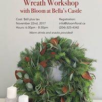 Christmas Wreath Workshop with Bloom at Bellas Castle
