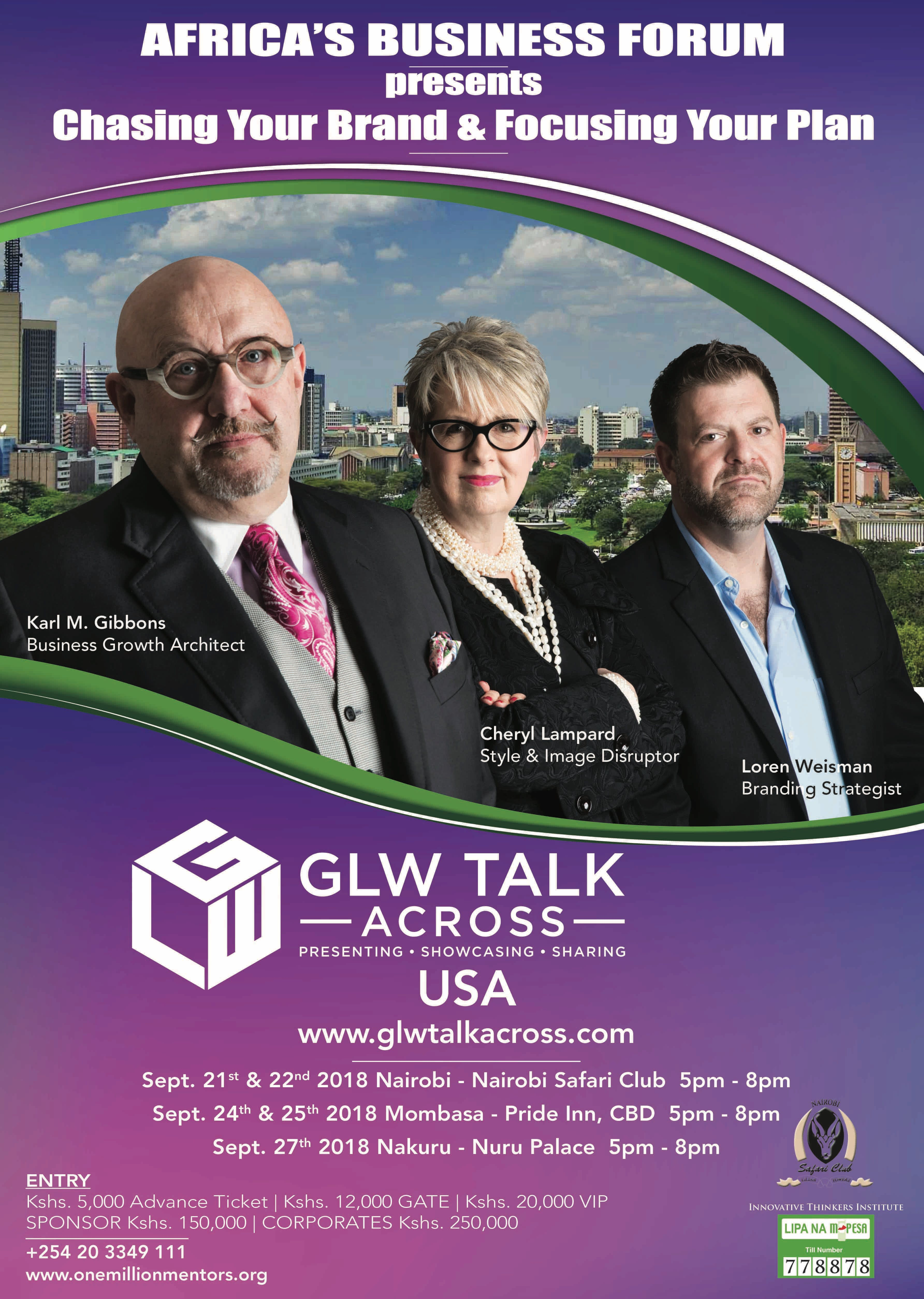 Africa Business Forum Presents Chasing Your Brand &amp Focusing Your Plan with GLW Talk Across Kenya.