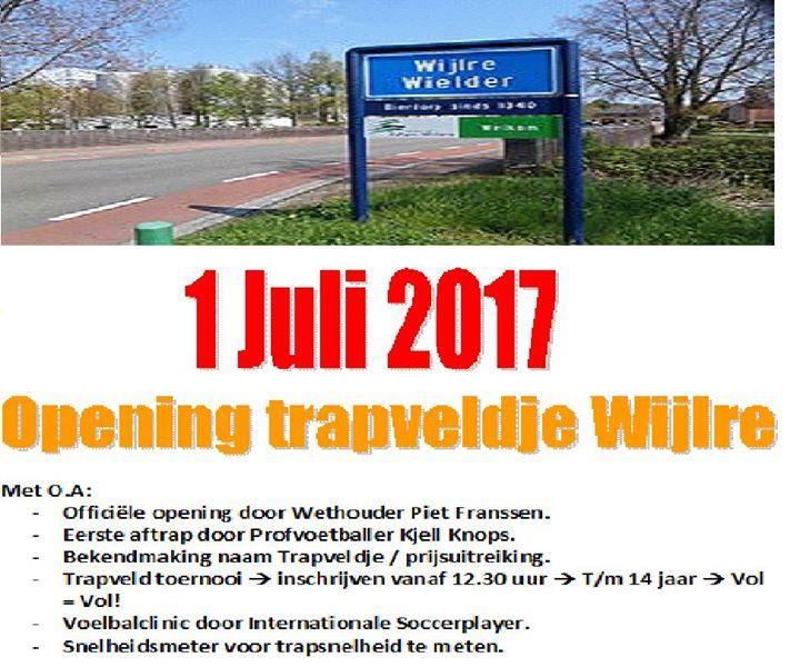 Opening Trapveldje Wijlre