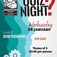 Quiz Night in aid of Bude Food bank