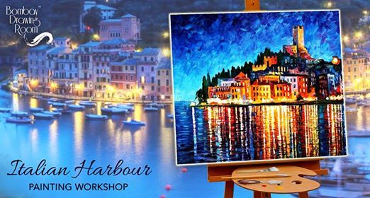 Italian Harbour Painting Workshop Cafe Zoe