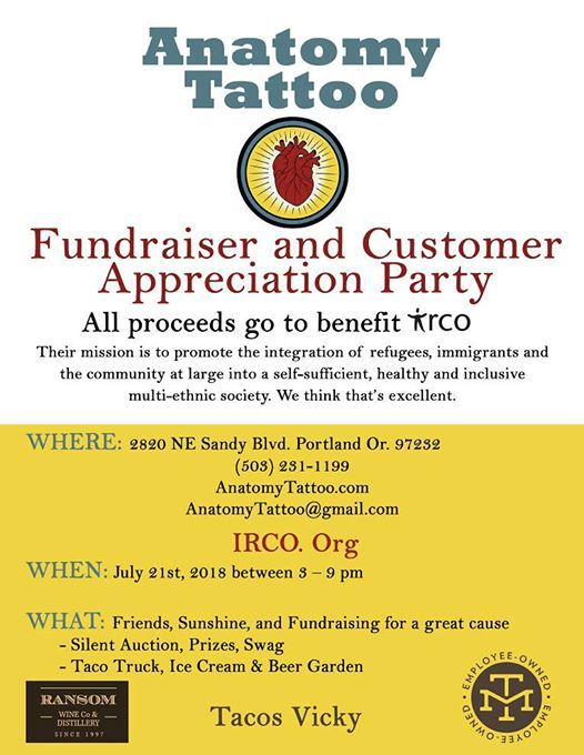 Customer Appreciation Party and IRCO Fundraiser at Anatomy Tattoo ...
