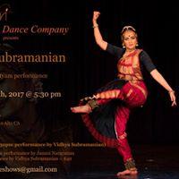 Vidhya Subramanian - in a Solo Bharatanatyam performance