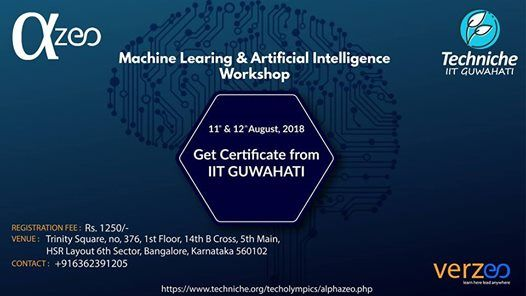 Machine Learning & Artificial Intelligence Workshop Bangalore