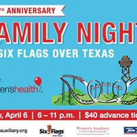 Family Night At Six Flags Over Texas