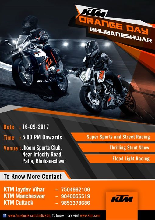 Bhubaneshwar KTM Orange Day