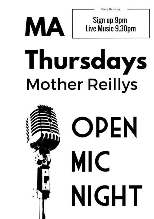 Ma Thursdays- Singer Song Writer Open Mic