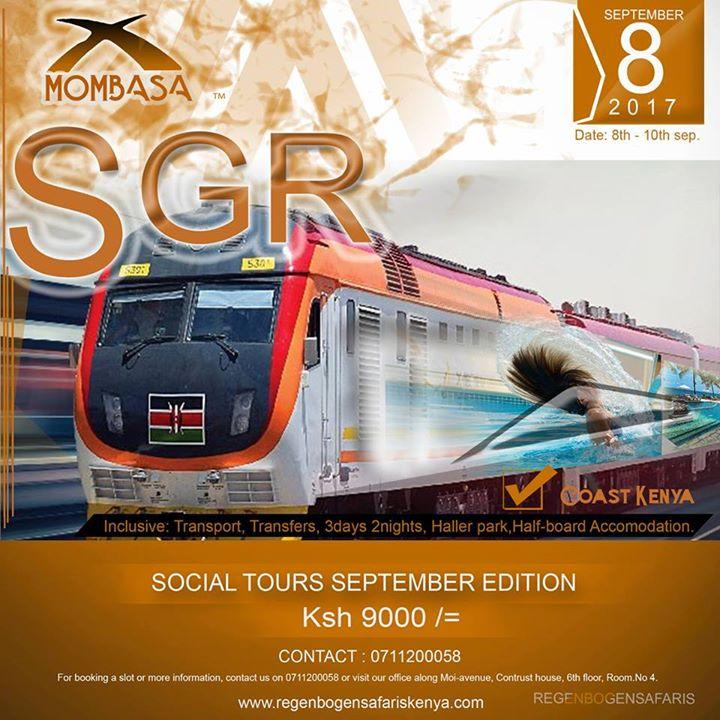SGR Trip to Mombasa  at Regenbogensafari, Nairobi