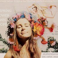 Spring Flower Crown Workshops for Telstra Perth Fashion Festival