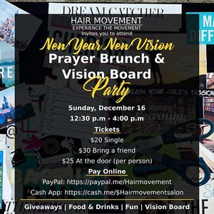 new year new vision prayer brunch vision board party at 9244 e hampton dr maryland