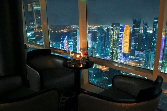 August Summer Drink at Strata Lounge, 55th floor