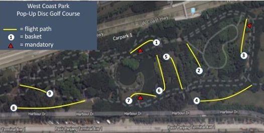 January 26 Pop-Up Disc Golf at West Coast Park