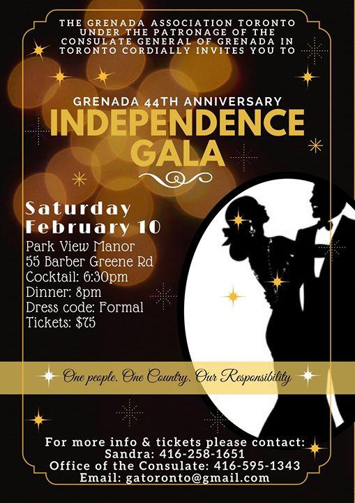 Grenada Independence Gala 2018 at Parkview Manor, Toronto