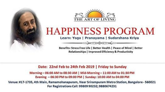 Art Of Livings Happiness Program