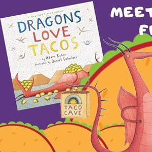Meet the Dragon from Dragons Love Tacos! at Athens-Clarke