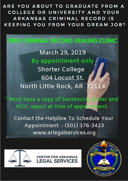Free Arkansas Criminal Record Sealing Clinic